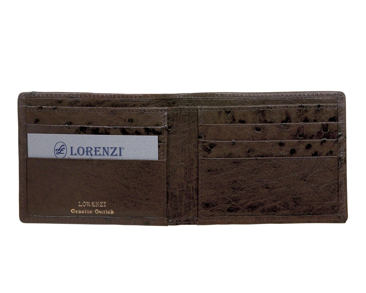 Lorenzi Men's Ostrich Billfold