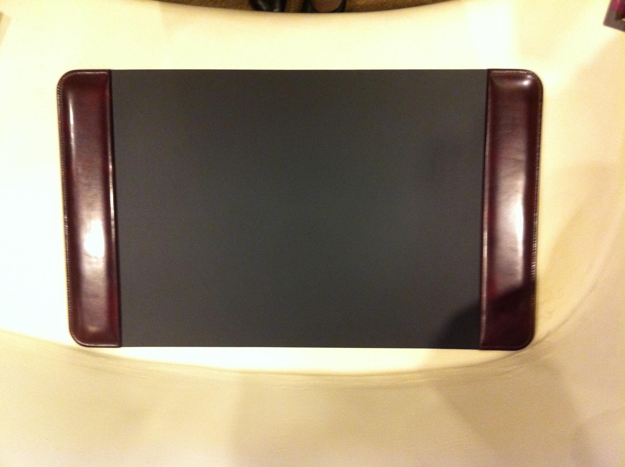 Bosca #728-32 Cognac Leather Desk Pad