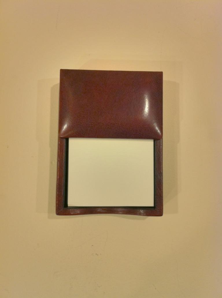 BOSCA #726-32 Leather Memo Box