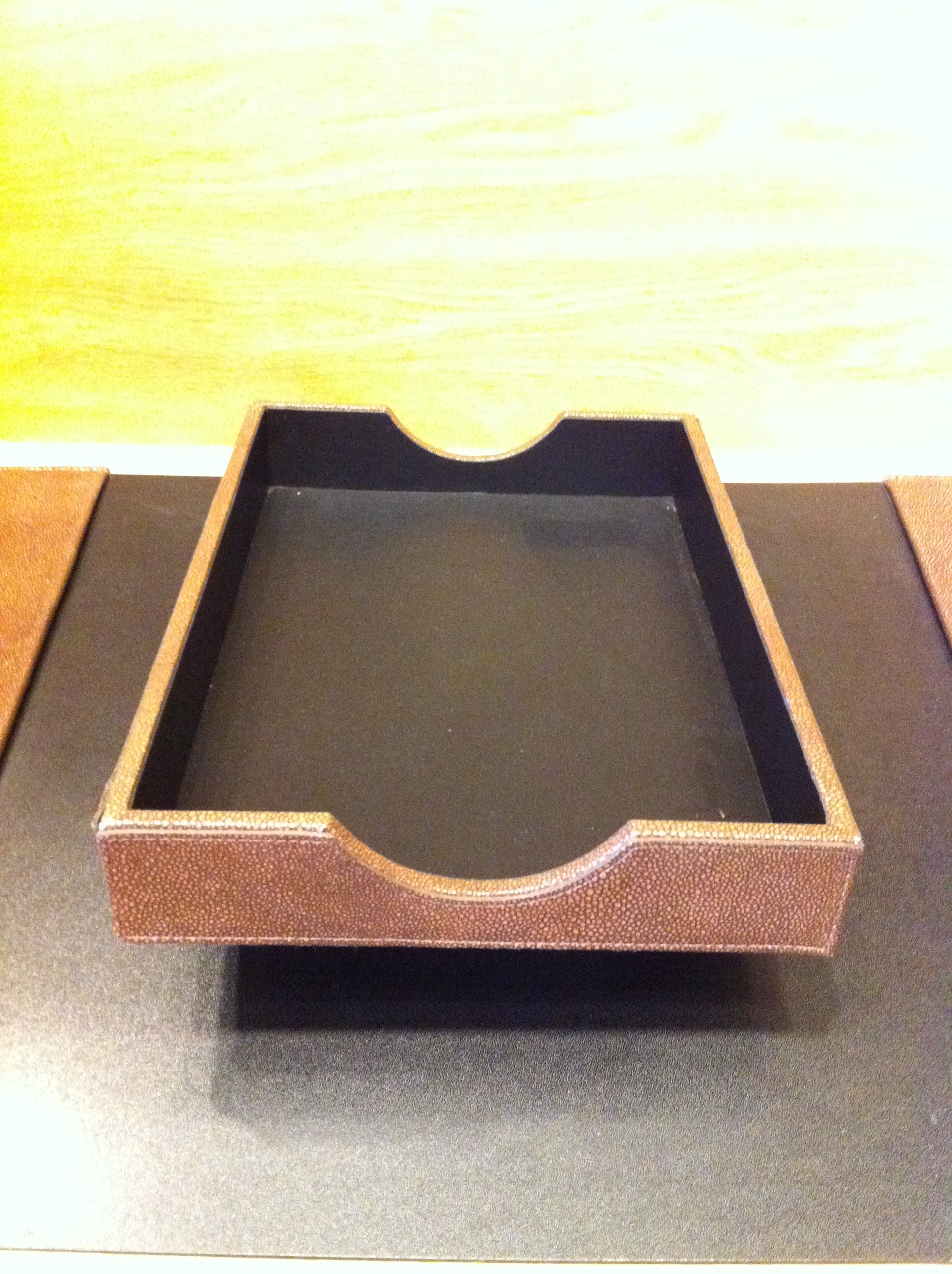 GRAPHIC IMAGE DLT-B Brown Shegren Letter Tray