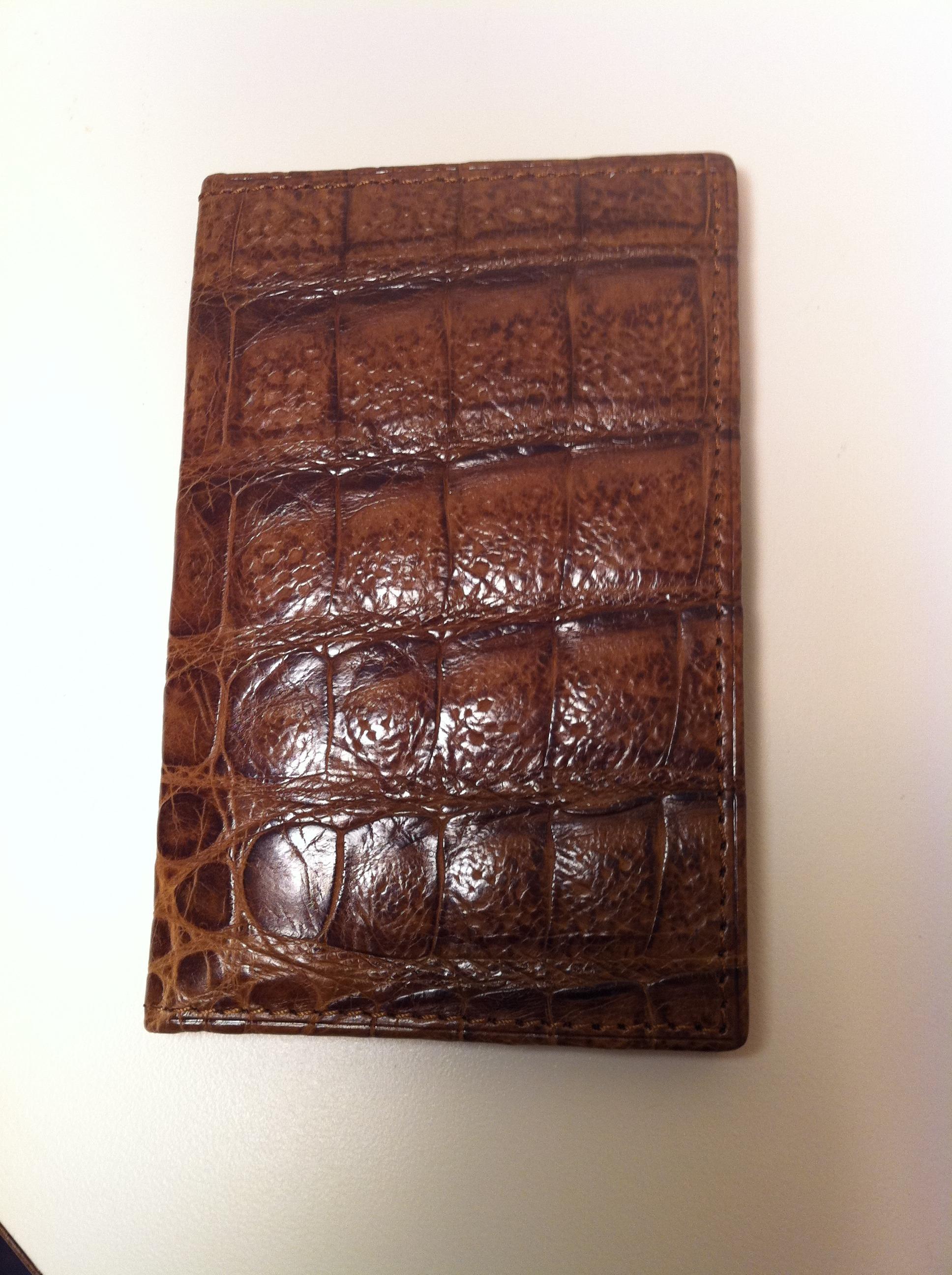 Stefan Mann Caiman Crocodile Cardcase
