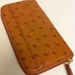 STEFAN MANN Zip Ladies Ostrich Wallet #7068O