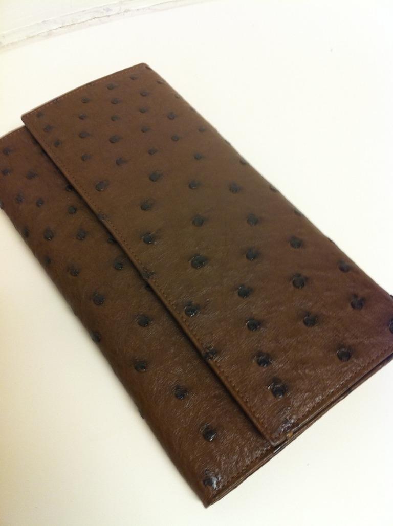 """FARHI """"Escada"""" Style Kango Ostrich Wallet"""