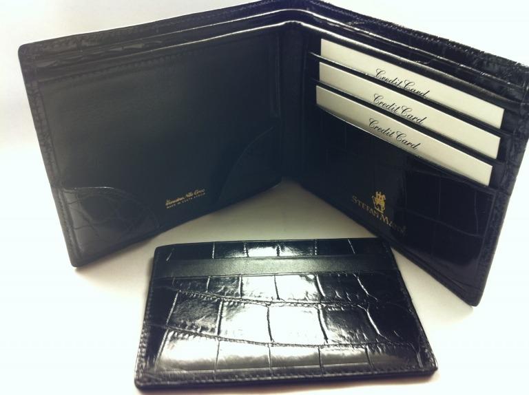 Stefan Mann Crocodile Passcase Wallet