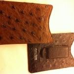 Stefan Mann Ostrich Moneyclip Cardcase