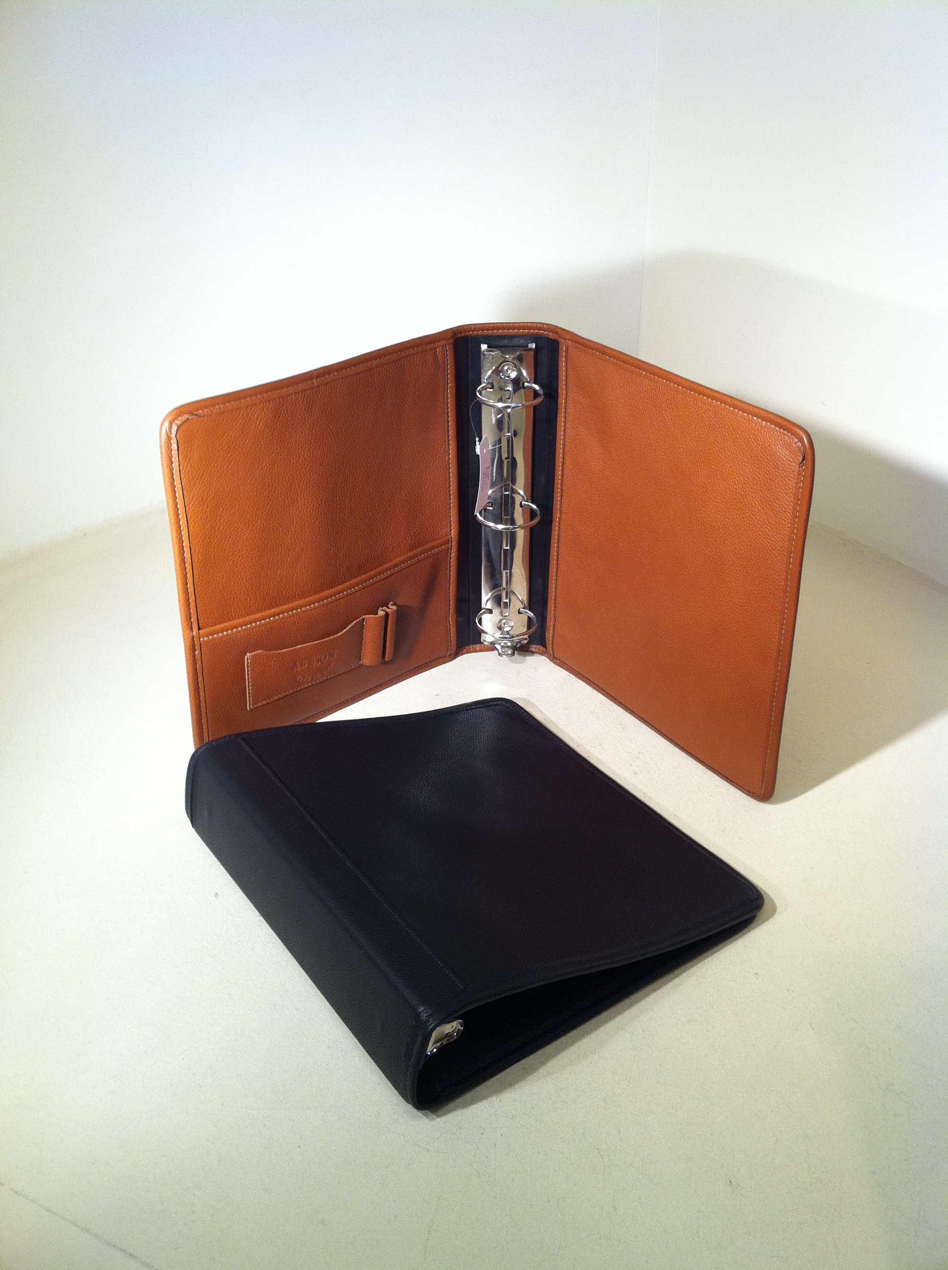 "Aston Leather 2"" Three Ring Binder"
