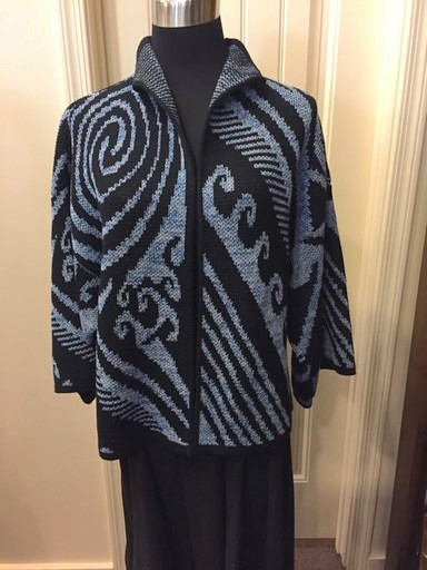 Michele Laidier Varigated Blue Swirl Jacket