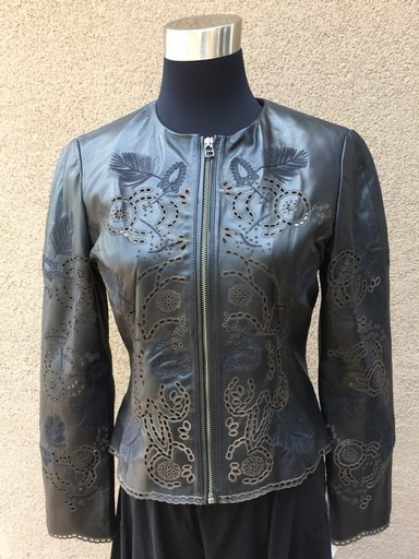 Scully Ladies Perforated Lambskin Jacket- Front